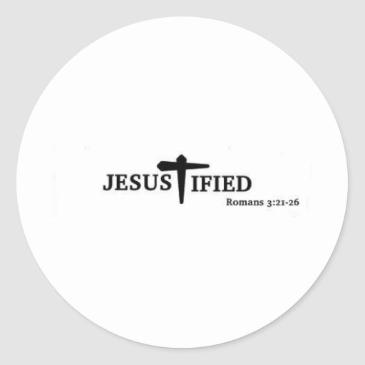 Jesustified Pegatina