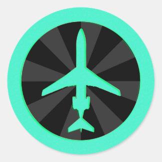 Jet Aircraft Classic Round Sticker