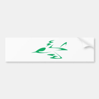 Jet Aircraft in Swish Drawing Style Bumper Sticker