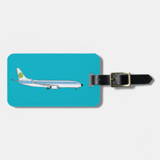 Jet Airliner Luggage Identifier Tag