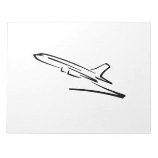 Jet Airliner Memo Note Pad