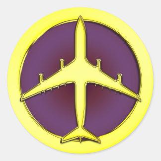 JET AIRLINER ROUND STICKER