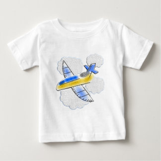 Jet Airplane in the clouds Baby T-Shirt
