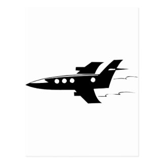 Jet Airplane Postcard