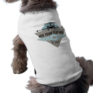 Jet Airplane Wing Club Dog Clothes