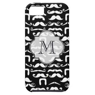 Jet Black and White Mustache iPhone SE/5/5s Case
