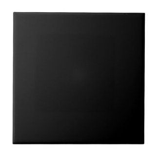 Jet Black Design - customise with text, photo, pic Ceramic Tile