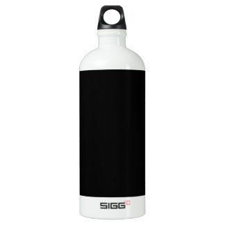 Jet Black Design - customise with text, photo, pic Water Bottle
