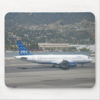 Jet Blue on RWY 8 at KBUR Mouse Pad