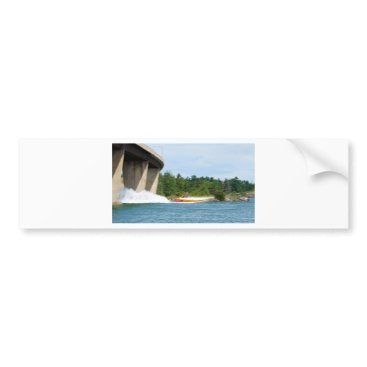 Beach Themed Jet Boats on a run, St Joseph Island Bumper Sticker