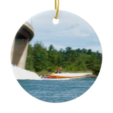 Jet Boats on a run, St Joseph Island Ceramic Ornament
