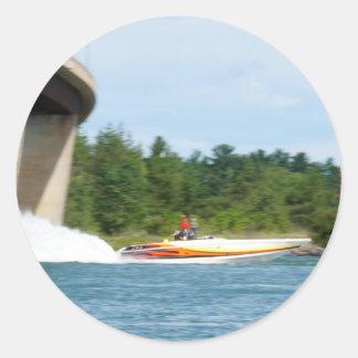 Jet Boats on a run, St Joseph Island Classic Round Sticker