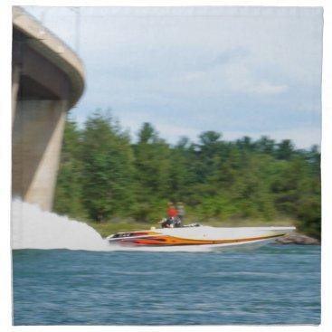 Beach Themed Jet Boats on a run, St Joseph Island Cloth Napkin