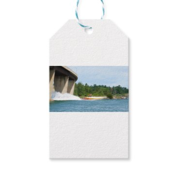 Beach Themed Jet Boats on a run, St Joseph Island Gift Tags