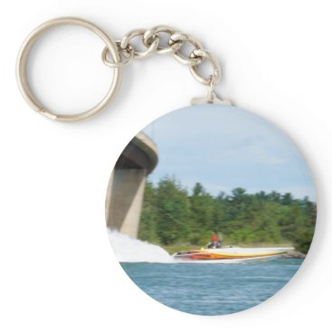 Beach Themed Jet Boats on a run, St Joseph Island Keychain