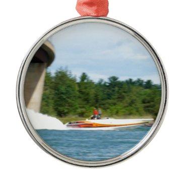 Jet Boats on a run, St Joseph Island Metal Ornament