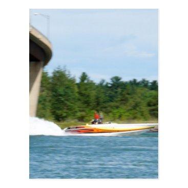 Beach Themed Jet Boats on a run, St Joseph Island Postcard