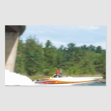 Beach Themed Jet Boats on a run, St Joseph Island Rectangular Sticker
