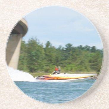 Jet Boats on a run, St Joseph Island Sandstone Coaster