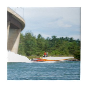 Jet Boats on a run, St Joseph Island Tile
