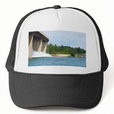 Beach Themed Jet Boats on a run, St Joseph Island Trucker Hat