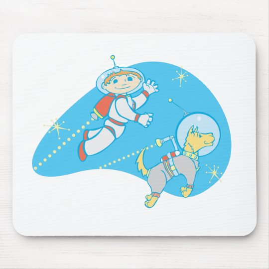 Jet Boy and Dog Mouse Pad