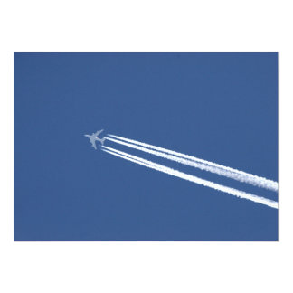 Jet Contrails in Blue Sky Card