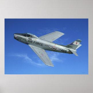 Jet de F-86 SABRE Posters