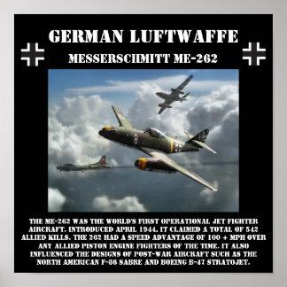 Jet de Messerschmitt ME-262 del alemán - Segunda G Póster