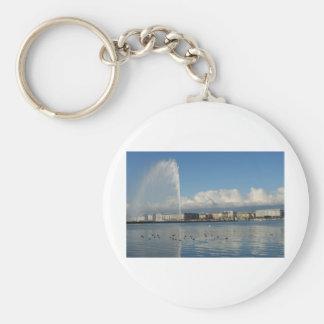Jet d'eau, Geneva Basic Round Button Keychain
