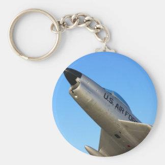 Jet del sable F86 Llavero Redondo Tipo Pin