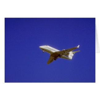 Jet ejecutivo tarjeta de felicitación