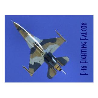 Jet eléctrico del halcón que lucha F-16 Tarjetas Postales