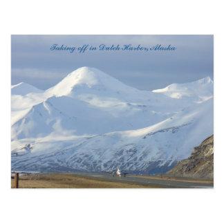 Jet en la pista en el puerto holandés, Alaska Postales