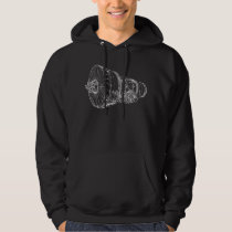Jet engine hoodie