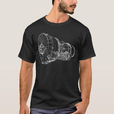 wingprint Jet engine T-Shirt