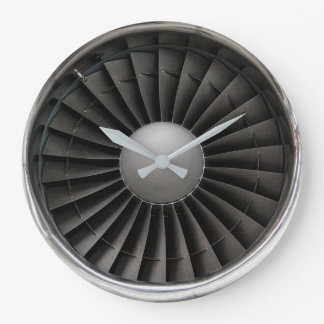 Jet Engine Turbine Fan Large Clock