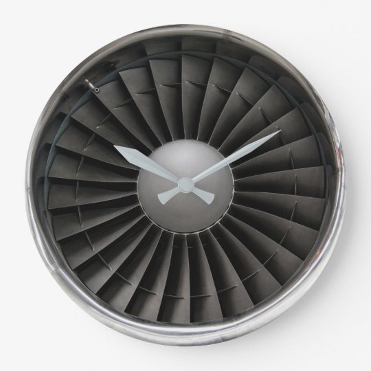 Jet Engine Turbine Fan Large Clock Zazzle Com