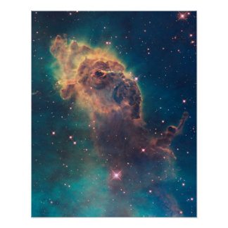 Jet estelar en la impresión de la nebulosa de Cari Poster