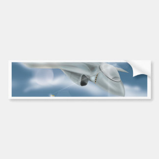 Jet Fighter Aircraft Bumper Sticker
