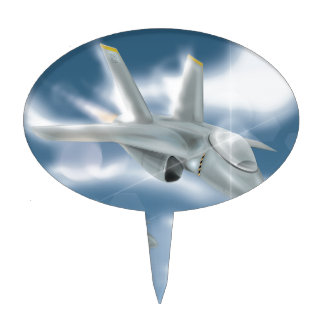 Jet Fighter Aircraft Cake Topper