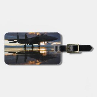 Jet Fighter Aircraft Pilot Wings Destiny Bag Tag