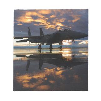 Jet Fighter Aircraft Pilot Wings Destiny Memo Notepad