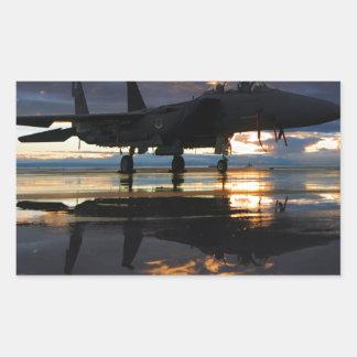 Jet Fighter Aircraft Pilot Wings Destiny Rectangular Stickers