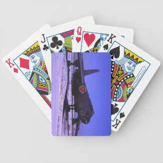 jet fighter bicycle playing cards