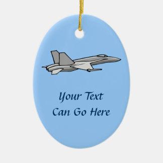 Jet Fighter F18 Hornet Airplane Plane Pilot Design Ceramic Ornament
