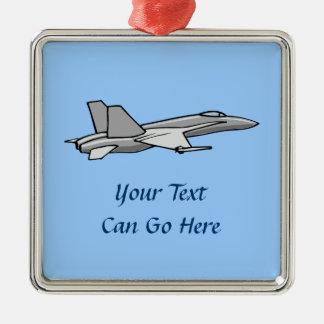 Jet Fighter F18 Hornet Airplane Plane Pilot Design Metal Ornament