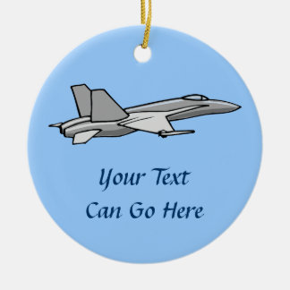 Jet Fighter F18 Hornet Airplane Plane Pilot Design Christmas Ornament