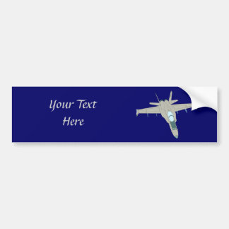 Jet Fighter F18 Hornet Design Car Bumper Sticker