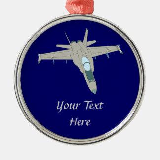 Jet Fighter F18 Hornet Design Metal Ornament